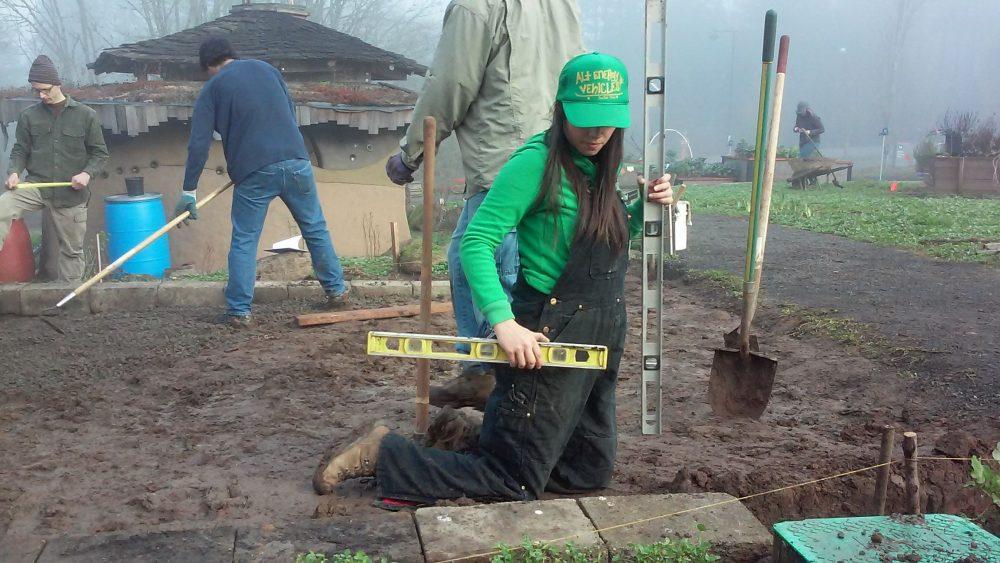 Measuring garden bed