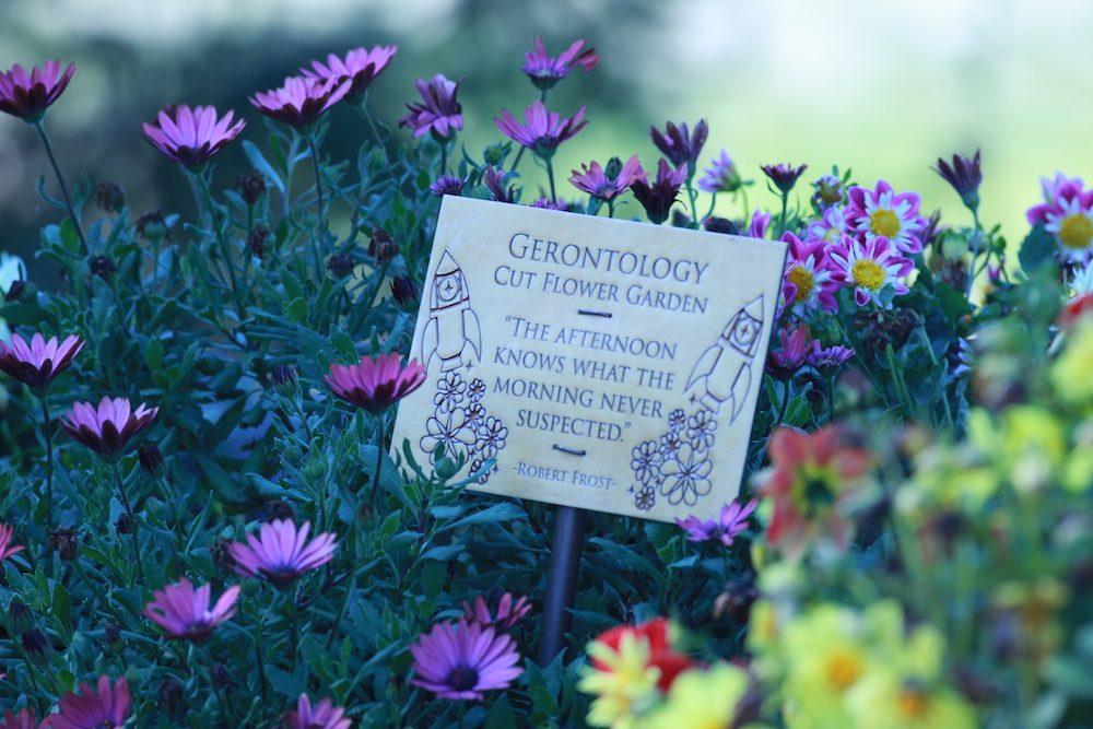 Flower garden sign