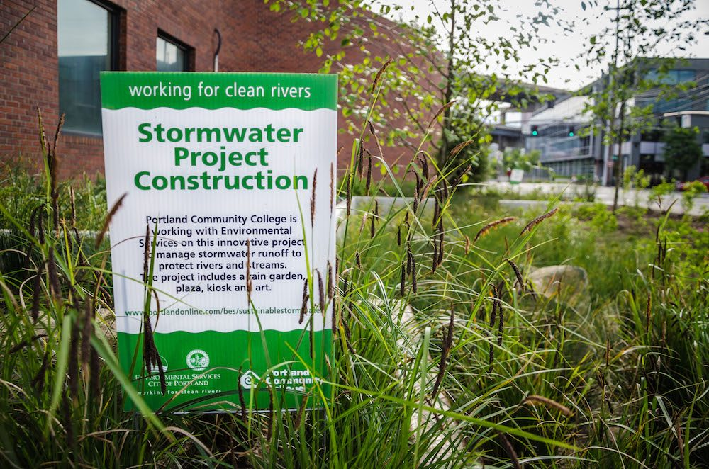 Stormwater project sign