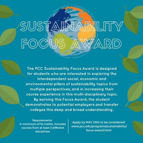 Sustainability Focus Award