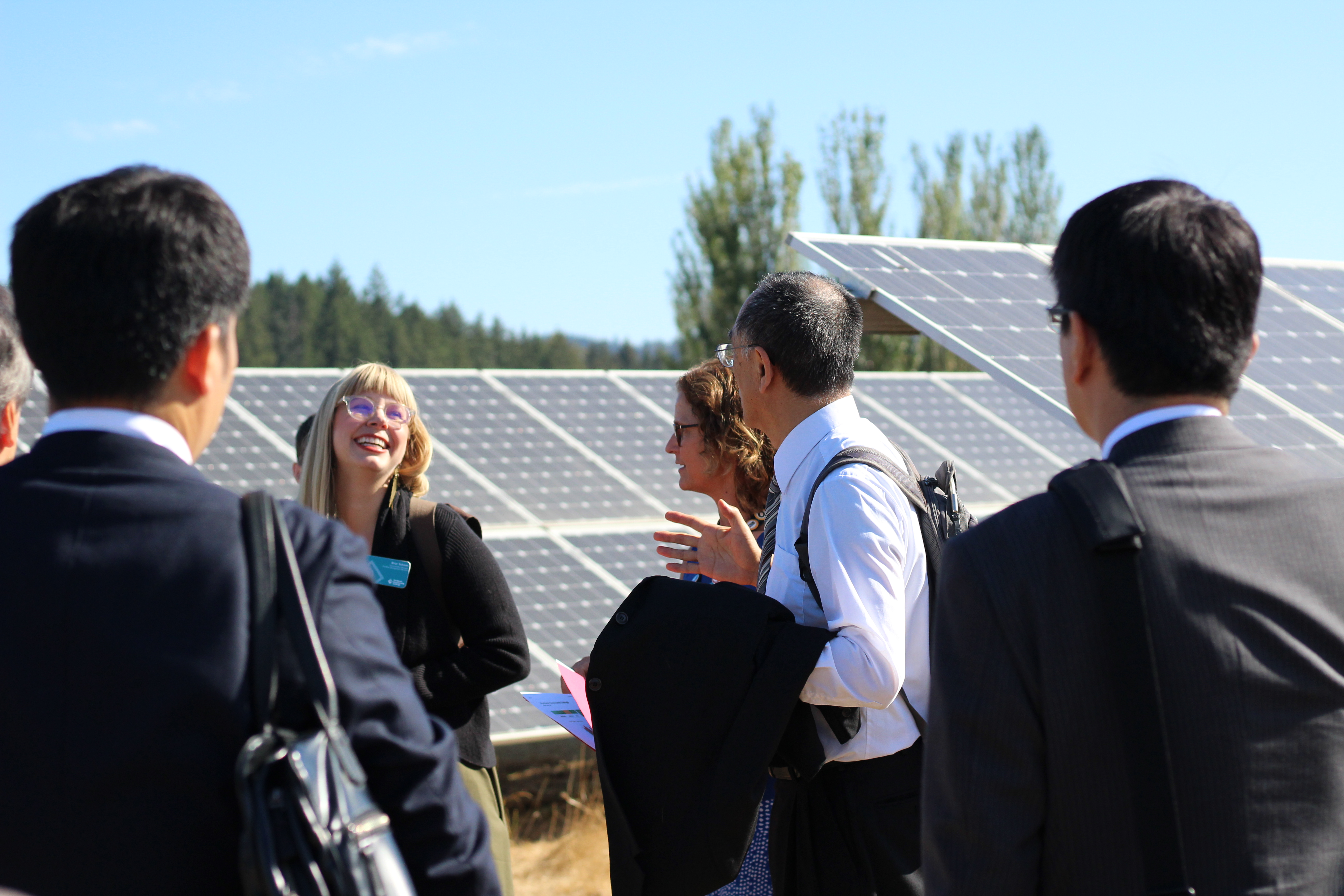 Briar Schoon having a good time with the Japanese Energy Leaders