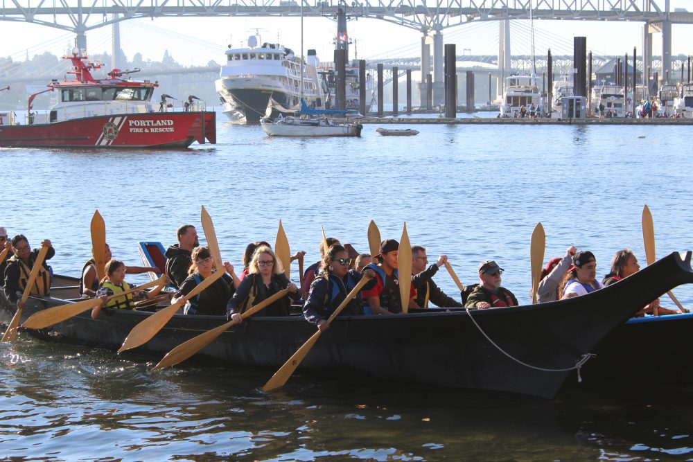 The Canoes approach on the Willamette