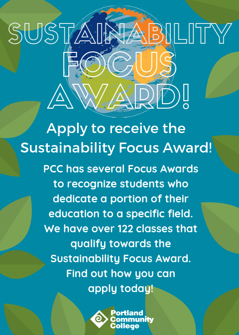 Sustainability Focus Award online poster