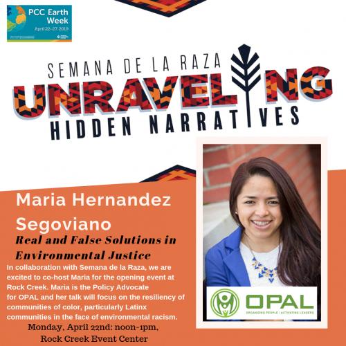 Semana de la Raza Earth Week Maria Hernandez Segoviano
