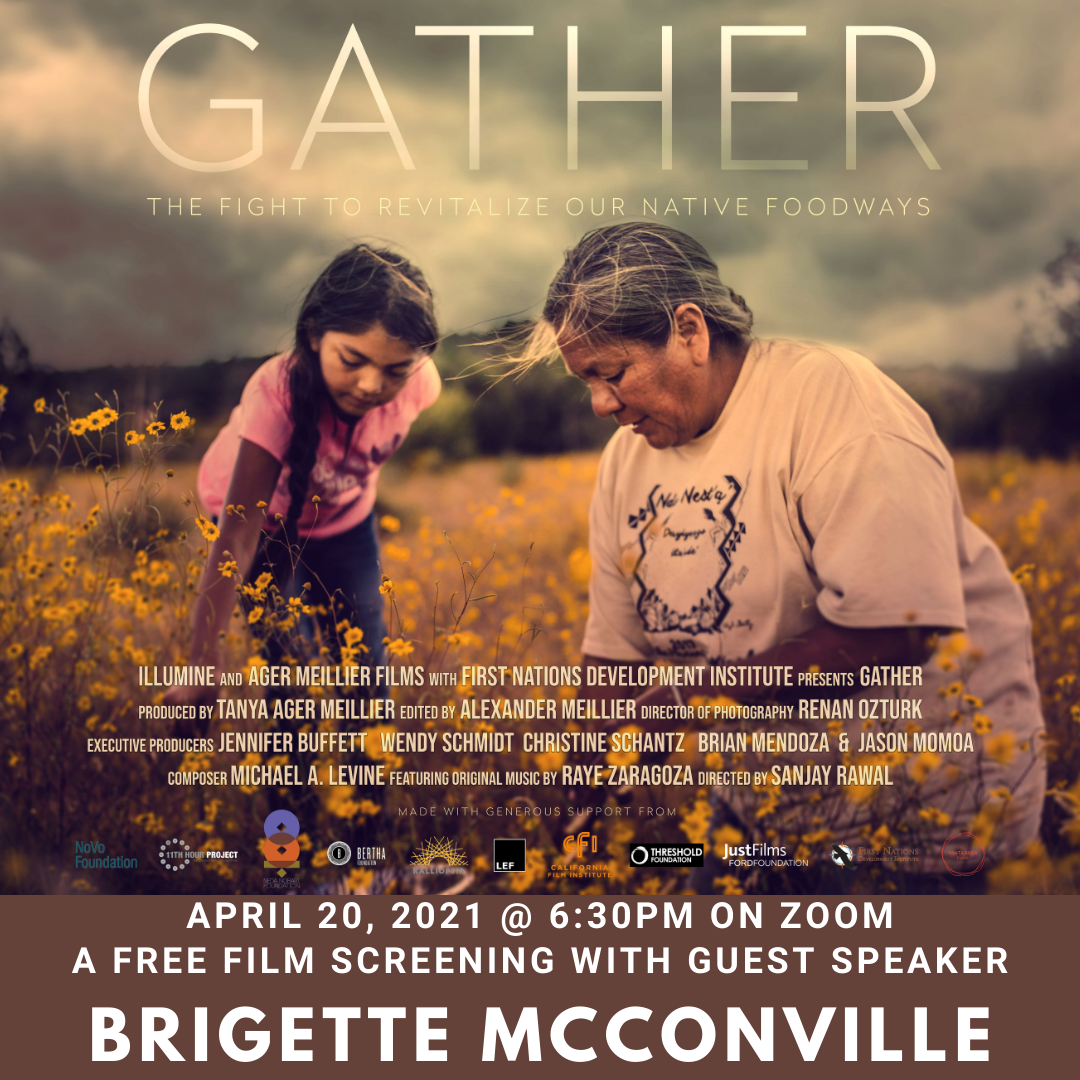 Gather Film Screening: April 20 2021 at 6:30pm on zoom