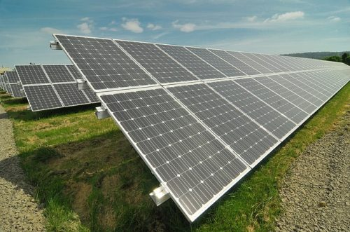 PCC solar panel array at Rock Creek Campus