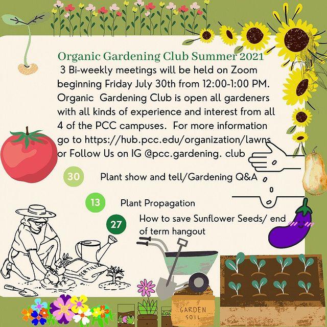 Organic Gardening Club Summer 2021