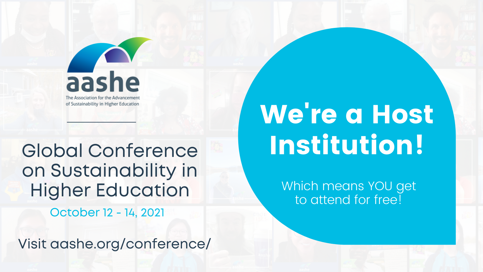 AASHE conference annoucement