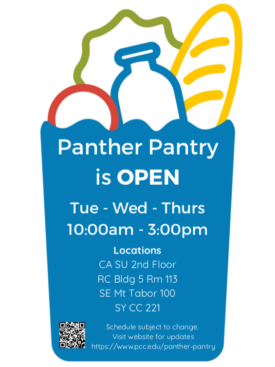 Panther Pantry Fall 2021 Hours
