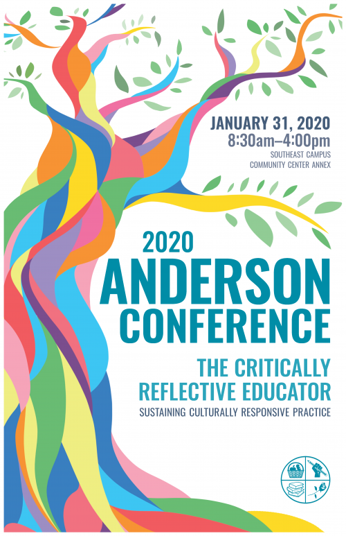 2020 Anderson Conference poster: The Critically Reflective Educator. Sustaining Culturally Responsive Practice.