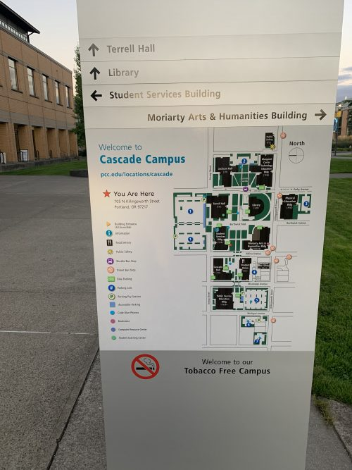 Image of Information Sign and Campus Map