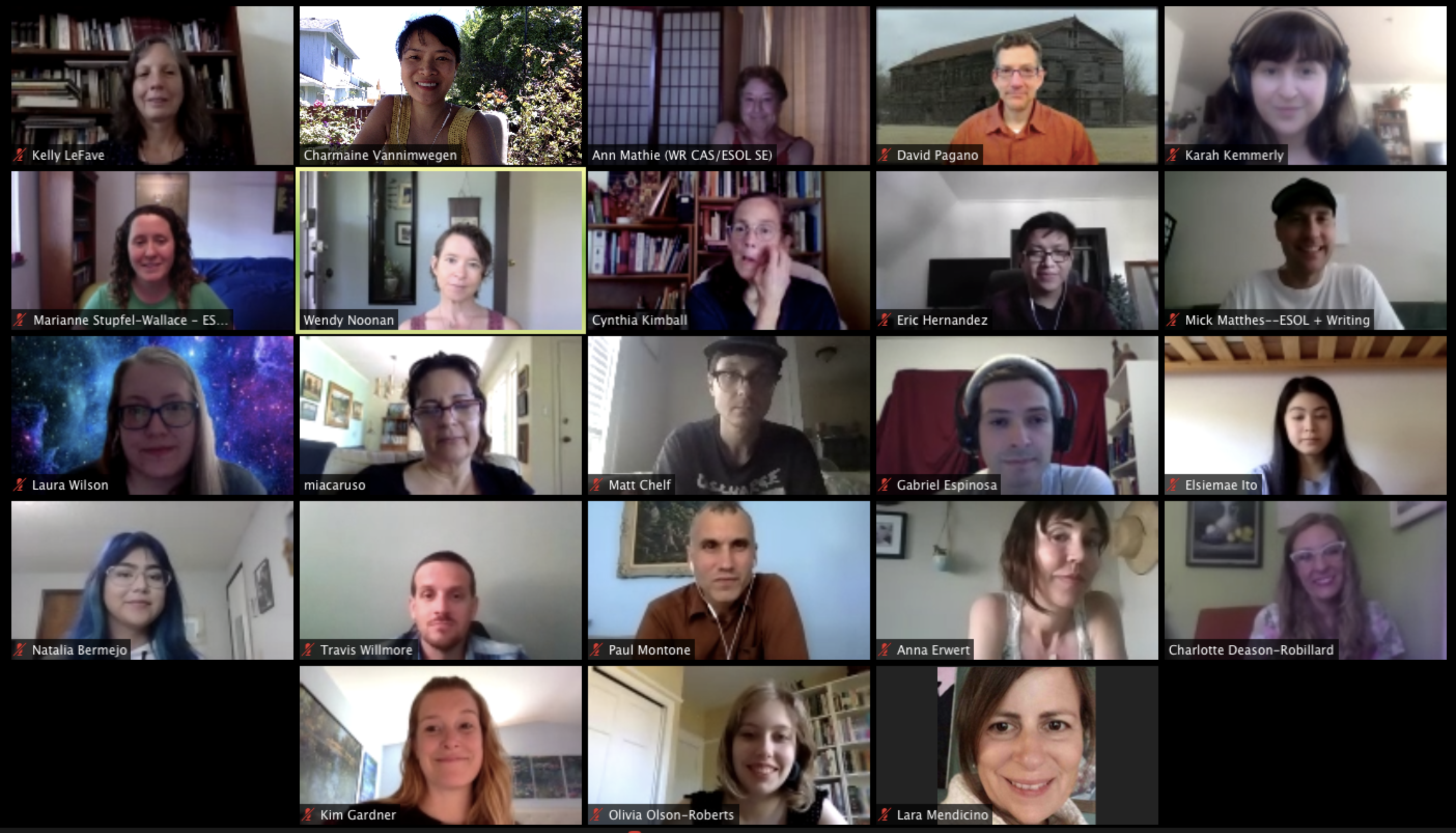 Image of tutors from the online tutoring center. Also includes hyperlink to video of instructions for booking a Google Hangouts appointment