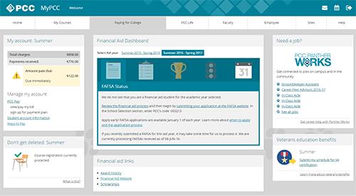 MyPCC screenshot