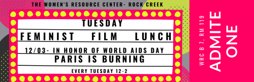 Tuesday Feminist Film Lunch