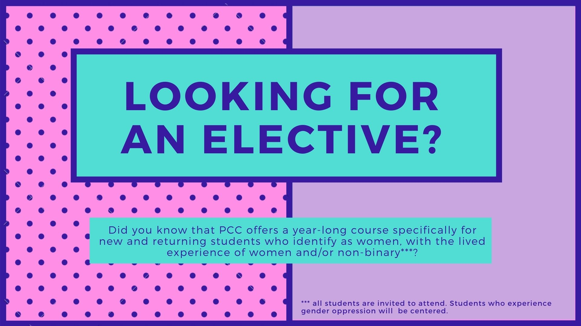 Looking For Elective