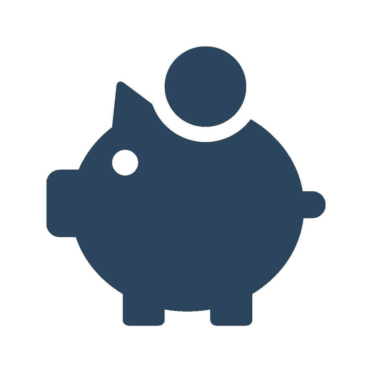 Cartoon of piggy bank