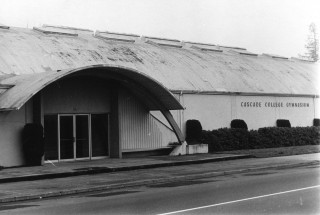 This building became the gymnasium for the Cascade Campus for many years until a 2001 bond measure gave the college a brand new facility across North Killingsworth Street.