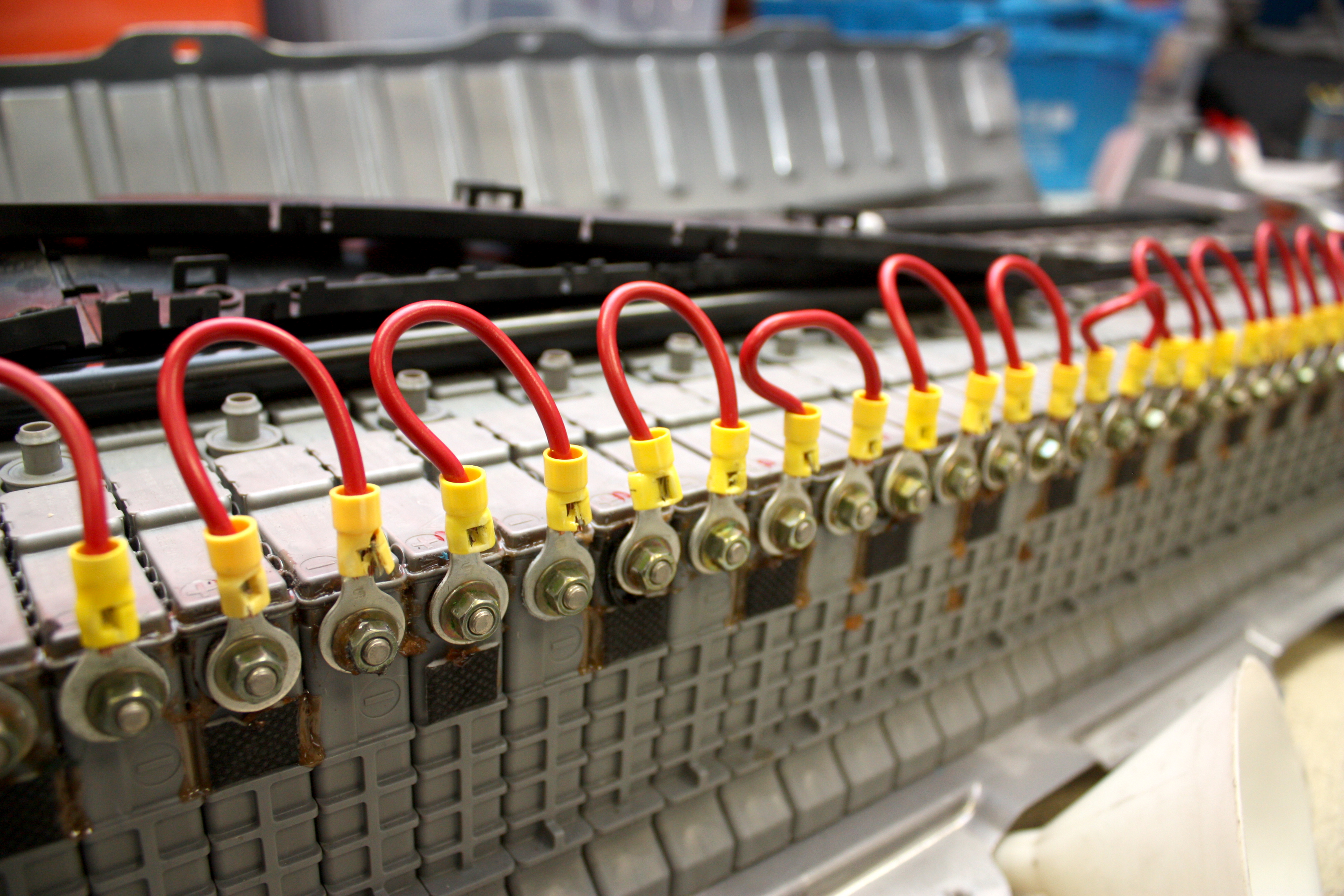 A Toyota Prius Battery Pack Contains Many Small Batteries That Each Must Be Worked On During