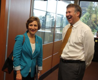 Brown has met with lots of local leaders such as Congresswoman Suzanne Bonamici.