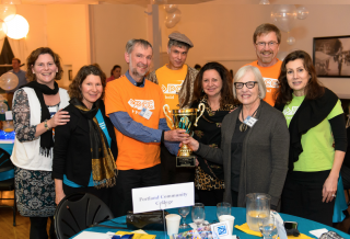 PCC's 2013 'World Quest' championship team includes (from left to right) Jane Zunkel, Tina Sparks, John Sparks, Bryan Hull, Bonnie Starkey, Linda Gerber, Dave Stout, and Marlene Eid.