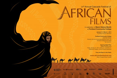 Poster for the 24th Cascade Festival of African Films.