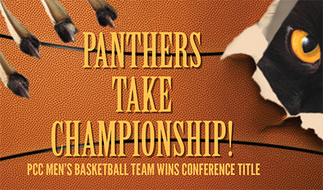 PCC men's basketball team wins conference title!