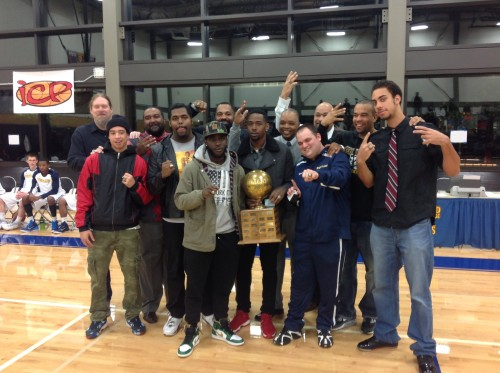 Most of the players from the 2013-14 team, along with the coaching staff, were on hand Monday night to receive their NWAC championship rings.
