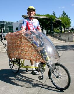 Kirke Johnson loved commuting to work via his recumbent cycle.