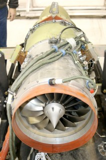 The 14-inch in diameter engine is a FJ33-4A model turbofan engine used on the Cirrus Vision and Diamond D-Jet planes.