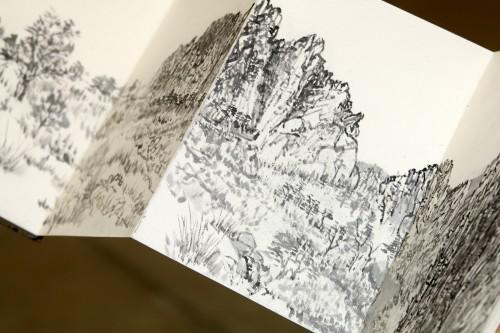 Park's sketch of Smith Rock in Central Oregon.