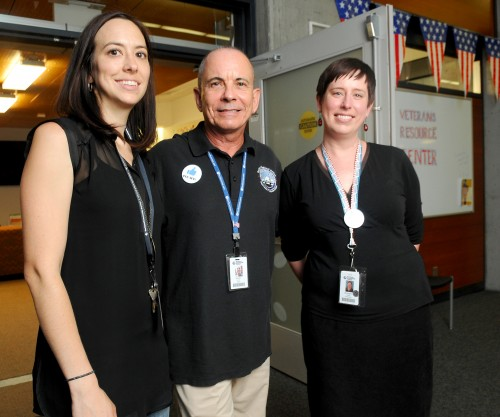 Left to right, Sylvania Veterans Resource Center staff Meghan Jasurda (counselor with Disabilities Services), Steven Gordon (Vet Success on Campus counselor) and Kim Douthit (Veterans Resource Center specialist).