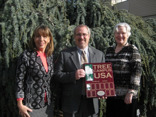 The Tree Campus USA designation aligns with the college's aggressive sustainability commitments as outlined in the college's Climate Action Plan.