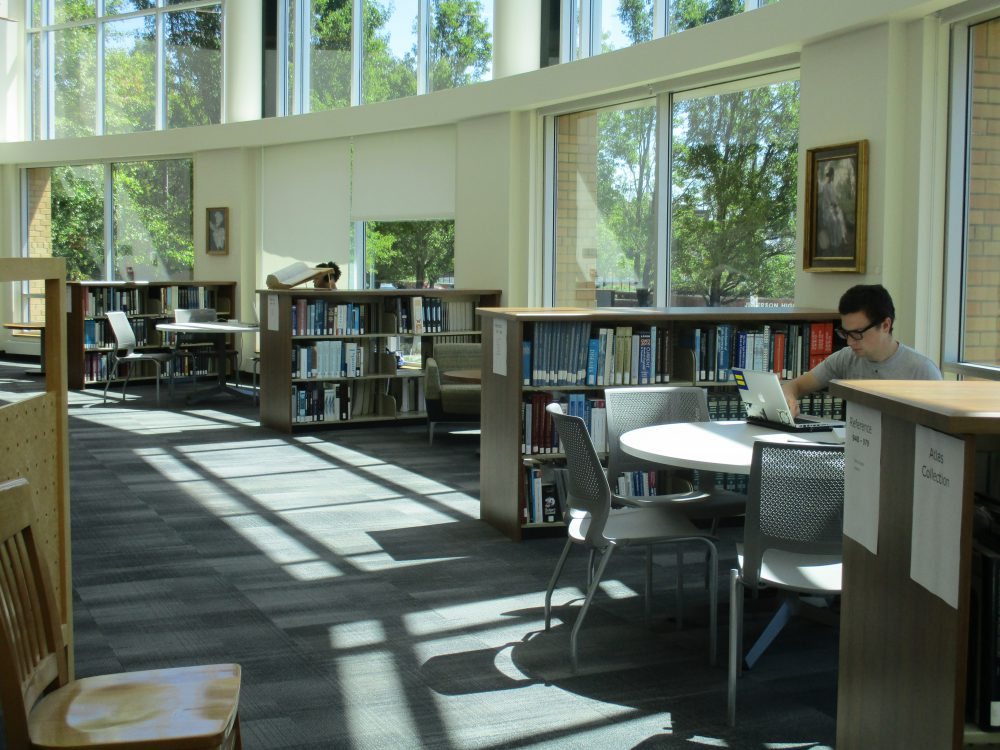 Cascade's Library has several places for students to work, in open common areas as well as reservable study rooms.