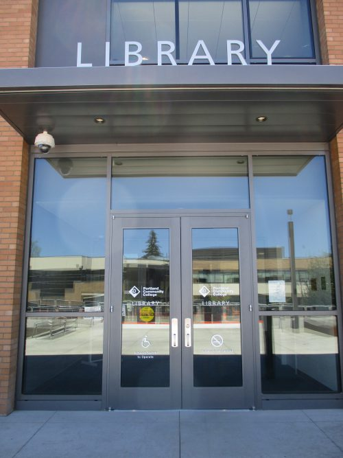 Where once students could only enter the Library through a dark passageway from Student Center, the Bond Program's extensive remodel has given the building a true front door.