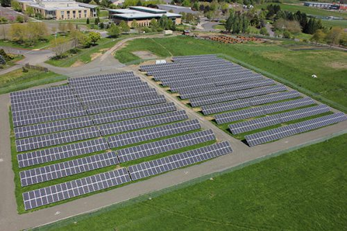 Rock Creek Campus' solar array generates 60 percent of the power used at Building 9.