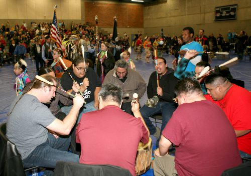 Drum circle from 2015 powwow.