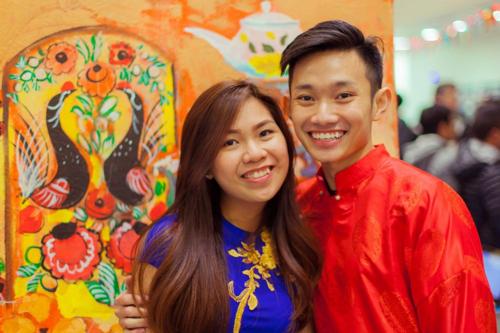 Multicultural Night student leader Kien Truong at the 2017 Multicultural Night along with friend.