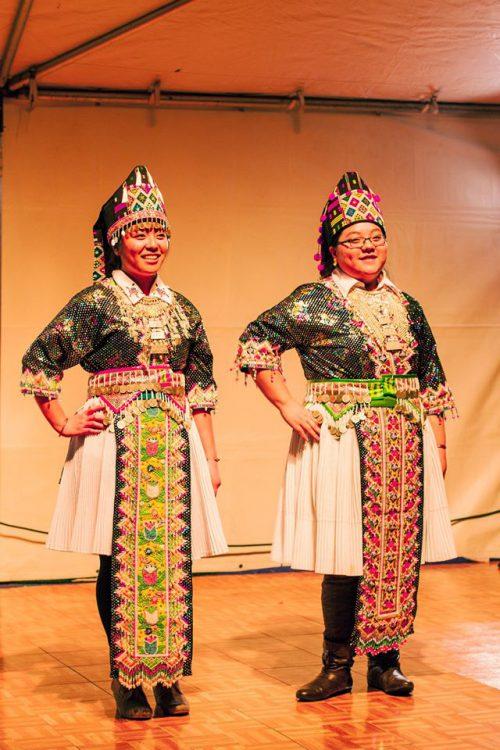 Fashion show participants.