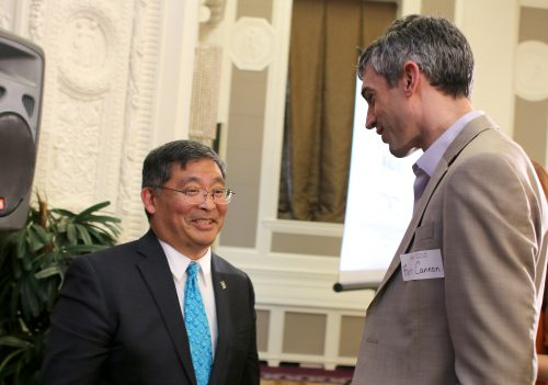 Mitsui with HECC Executive Director Ben Cannon at City Club.