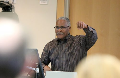 The event's keynote was provided by Larry Roper, Oregon State University's interim director of the School of Language, Culture and Society.