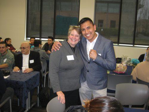 Hernandez with mentor Mandy Ellertson.