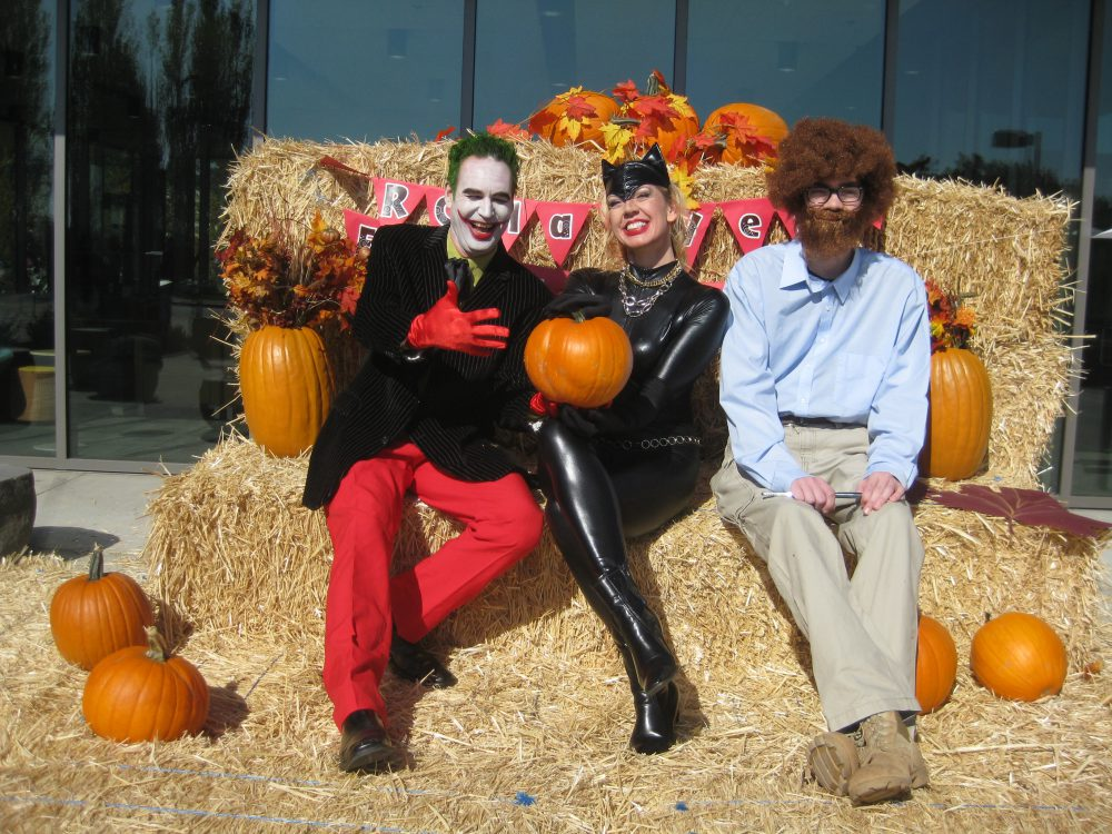 "Making an appearance at this year's Harvest Fest was (left to right): The Joker, Cat Woman and Bob ""Happy Trees"" Ross."