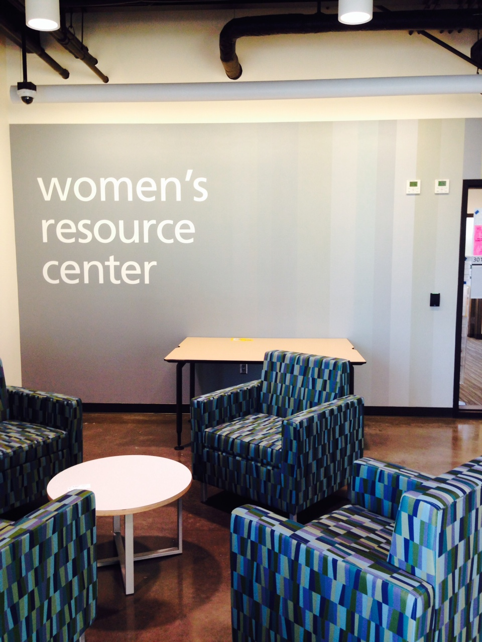 Cascade's Women's Resource Center shares the top floor of the new Student Union with the Multicultural Center and Office of International Education.