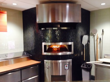 The dining facilities in Cascade's new Student Union include a gleaming pizza oven.