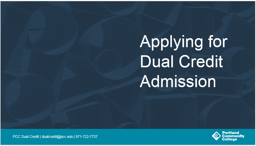 Applying for dual-credit admission