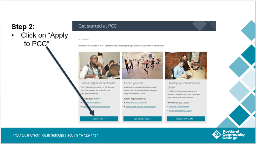 Step 2: Click on 'Apply to PCC'.