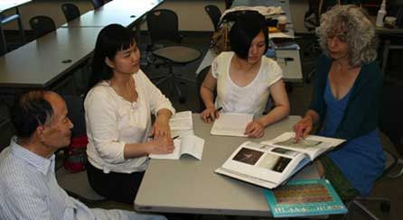 Group of students reading together