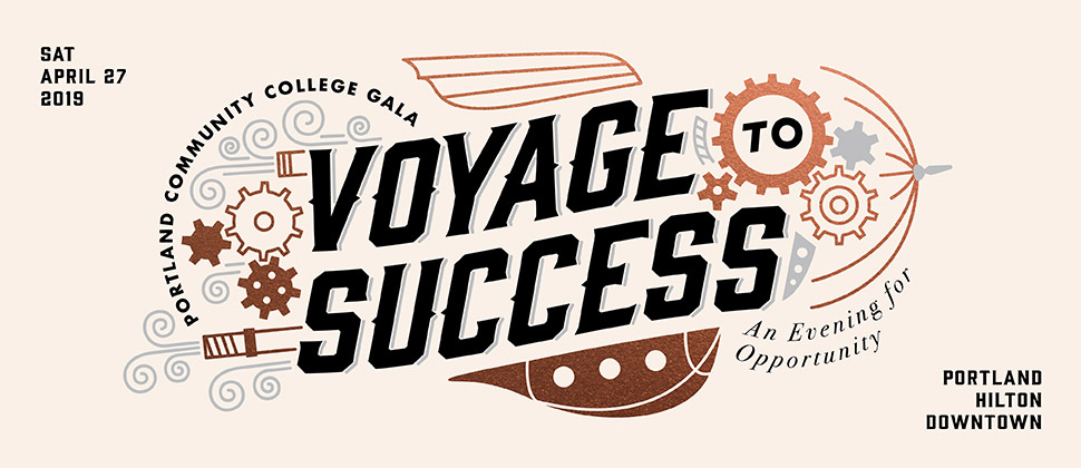 PCC presents An Evening for Opportunity: Voyage to Success, Saturday, April 27, 2019 at the Hilton in Downtown Portland