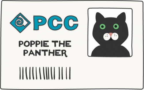 id card of mascot Poppie the Panther